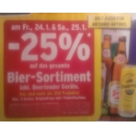 Merkur: -25% auf Bier und Biertender Geräte für FoM am 24. und 25.1.2014
