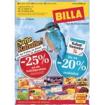 Neue Sortimentsaktionen (z.B. -25% Rabatt auf alle Tiefkühlprodukte bei Billa)