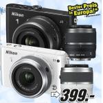 Saturn u. Mediamarkt: NIKON 1 J3 Kit  mit Objektiv 10-30mm + 30-110mm zum neuen Bestpreis von 399 €