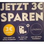 Müller: 3 Nivea-Produkte um mind. 9 € kaufen und 3 € sparen