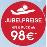 Jubelpreise bei Airberlin (z.B.: Flüge nach Paris, Berlin, Barcelona ab 98 Euro) & viele Städtetrips ab 182€