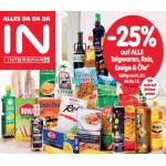Neue Sortimentsaktionen (z.B. -25% auf alle Teigwaren, Reis, Essige & Öle bei Spar / Interspar)
