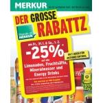 Merkur: -25% auf Limo, Fruchtsäfte, Mineral und Energy Drinks (zB.: Coca Cola, – Light, -Zero, Fanta oder  Sprite 1,5 L um 0,97 €) für FoM am 31.1 u. 1.2.2014