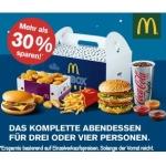 Mc Donalds: McBox Dinner ab 17 Uhr kaufen und mehr als 30 % sparen