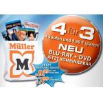 Neue Müller / Amazon.de 4 für 3 Aktion – bei Blu-Rays und DVDs bis zu € 9,99 sparen!