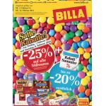 Neue Sortimentsaktionen (z.B. -25% auf alle Süsswaren bei Billa)