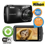 Nikon Coolpix S800c mit Android Betriebssystem, WLAN & GPS inkl. Versand um 135,90€ bei iBOOD.at