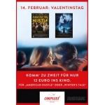 Cineplexx Kino: Zu zweit ins Kino für 12 € am Valentinstag für 2 ausgewählte Filme