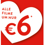 Cineplexx: 6 € pro Person inkl. Lindor Kugel am Valentinstag