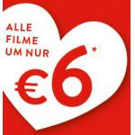 Cineplexx: 6 € pro Person inkl. Lindor Kugel am Valentinstag