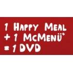 McDonalds: McMenü (ausgenommen Small) + Happy Meal = 1 Gratis DVD