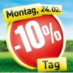 Minus 10 Prozent Rabatt am Montag dem 24.02.2014 beim Baumax
