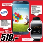 Samsung Galaxy S4 mit 16 GB Speicher + Samsung Galaxy Gear um 519 Euro beim Media Markt