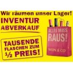 Minus 50 Prozent – Wein & Co Abverkauf vom 21.02.2014 bis 22.02.2014 @Zentrallager im 22. Bezirk