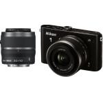 Mediamarkt: Nikon 1 J3 mit Objektiv VR 10-30mm 3.5-5.6 und VR 30-110mm 3.8-5.6 in schwarz um 399 € statt 533,45