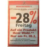 Interspar: -28% Rabatt auf ein Produkt eurer Wahl (exkl. Onlineshop) am 28. Februar 2014