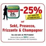 Merkurmarkt: Sekt, Champagner, Prosecco und Frizzante -25% am 26.2.2014
