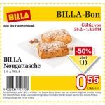 neuer Billabon BILLA Nougattasche um 0,55€ statt 1,10€