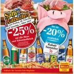 Billa: -25% auf alle Biere am 28.2. u 1.3.2014 (f. Vorteilsclubmitglieder)