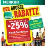 Merkurmarkt: -25% auf Spirituosen und Wein am 28.2. u. 1.3.2014 (nur für FoM)