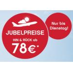 Jubelpreise bei Airberlin (z.B.: Hamburg, Berlin, Kopenhagen, Mailand ab 78 Euro) – Städtetrips ab 194€