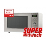 MM Supermittwoch – 05.03.2014: zB. Panasonic NN-GD371SEPG Mikrowelle mit Grill um 129 € statt 165,89 €