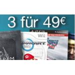 3 Games für 49 Euro inkl. Versand bei Amazon.de