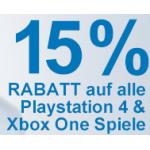 Müller Tagesaktion: – 15% Rabatt auf alle Playstation 4 & Xbox One Spiele