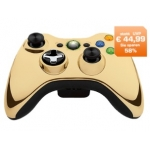 Microsoft XBox 360 Wireless Controller chrome gold um 19 Euro bei Saturn.at