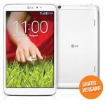 LG G-Pad 8.3″ Tablet 16GB in weiß inkl. Versand um 239€ am DiTech Dienstag