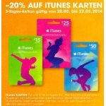 -20% auf iTunes Karten bei LIBRO