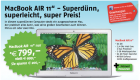 MacBook Air 11″ (64GB SSD Version) um 799€ @epos Apple Premium Reseller
