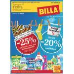 Neue Sortimentsaktionen (z.B.: -25% auf Wasch-, Putz- und Reinigungsmittel bei Billa)