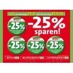 neue SPAR 25% Rabattaufkleber gültig von 24.3. – 27.3.2014
