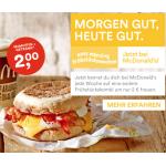 Frühstückswochen bei McDonalds: McMuffin nach Wahl + Heiß- oder Kaltgetränk um 2€