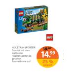 Müller Drogeriemarkt: LEGO – City Starke Fahrzeuge – Holztransporter (60059) um 14,99 € statt 18,12 €