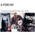 3 Spiele für 55€ bei Amazon.de