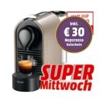 Mediamarkt Supermittwoch am 9.4.2014 – zB.  TURMIX TX 180 U Pure Grey um 66 € (+ 30 € Nespresso Gutschein)