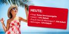 nur heute: Keine Serviceentgelte auf Flüge, -10% Rabatt auf Hotels, Flug&Hotel: 30€ Rabatt, Mietwagen: 10% Rabatt @ebookers.at