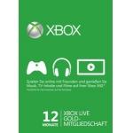 12 Monate XBOX Live Gold Mitgliedschaft um 33 Euro bzw. 13 Monate um 35 Euro