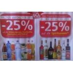 Spar/Eurospar/Interspar: -25 % auf alkoholfreie Getränke am 16. und 17.4.2014 & -25 % auf alle Spirituosen am 18. und 19.4.2014