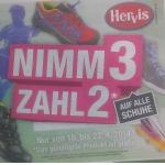 Hervis: Nimm 3 Zahl 2 Aktion auf Schuhe, -15 % Rabatt auf Outdoor-artikel