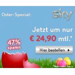 Sky Österreich Osterangebot – Sky Welt + 1 Wunschpaket + HD-Festplattenleihreceiver + HD-Sender (12 Monate) + Sky Go um 24,90€ / Monat für 2 Jahre