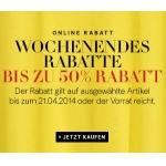 H&M Onlineshop: 2 Aktionen mit jeweils bis zu 50 % Rabatt + 5 Euro sparen durch Gutscheincode