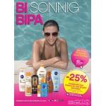 BIPA: -25 % Rabatt auf Sonnenpflege Produkte und Selbstbräuner