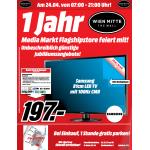 """Media Markt Flagshipstore Jubiläumsangebote vom 24. – 26. April 2014 – 1 Jahr """"The Mall"""" Wien Mitte"""