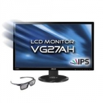 ASUS VG27AH 68,6 cm (27″) 16:9 Full-HD 3D IPS Monitor mit 3D-Brille