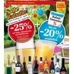 Billa: -25% auf Wein, Schaumwein und Spirituosen am 25. u. 26.4.2014 (f. Vorteilsclubmitglieder)
