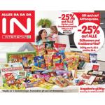 Neue Sortimentsaktionen (z.B.: -25% auf alle Süßwaren und Knabberartikel bei Interspar)