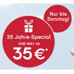 35 Jahre-Special bei Airberlin – z.B.: Berlin, Rom, Barcelona, Paris, Hamburg ab 70€! – Städtetrips (Flug + 3 Nächte) ab 139€!